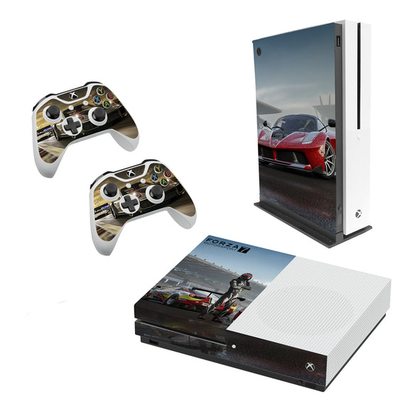 Forza 7 -Decal Style Skin Set fits XBOX One S Console and 2 Controllers