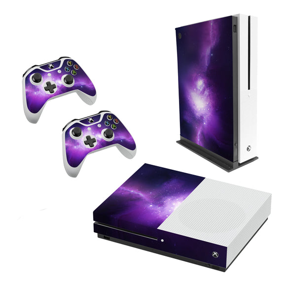 Nebula Galaxy -Decal Style Skin Set fits XBOX One S Console and 2 Controllers