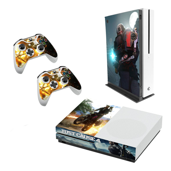 Just Cause 4 Decal Style Skin Set fits XBOX One S Console and 2 Controllers