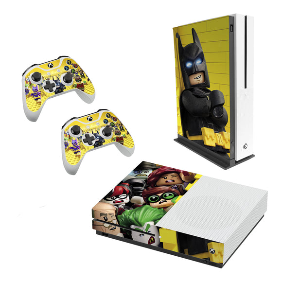 Lego Batman -Decal Style Skin Set fits XBOX One S Console and 2 Controllers