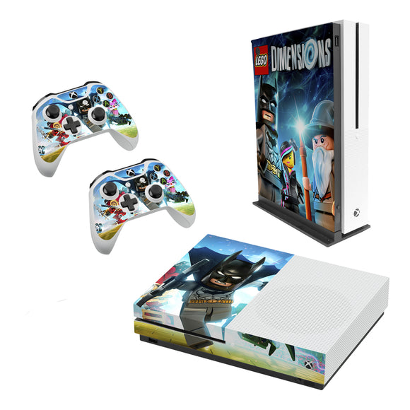 Lego Dimensions -Decal Style Skin Set fits XBOX One S Console and 2 Controllers