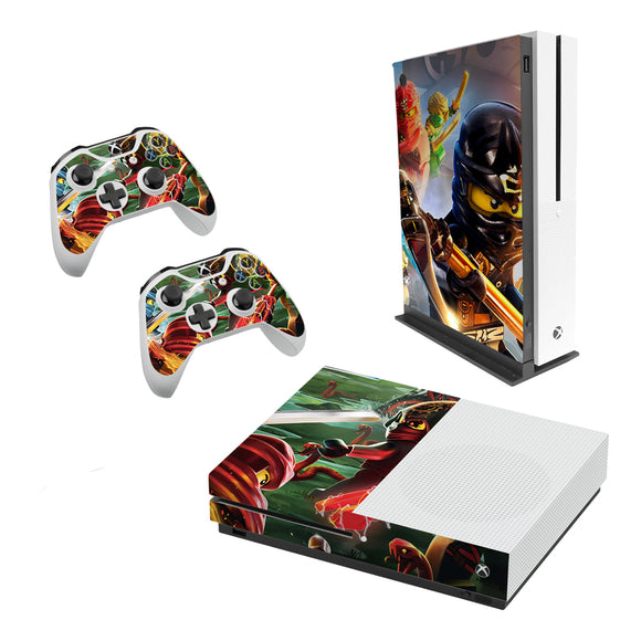 Lego Ninjago -Decal Style Skin Set fits XBOX One S Console and 2 Controllers