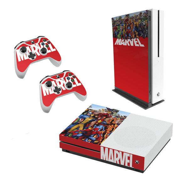 Marvel -Decal Style Skin Set fits XBOX One S Console and 2 Controllers