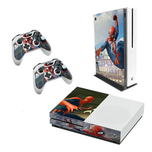 Spider-Man Decal Style Skin Set fits XBOX One S Console and 2 Controllers