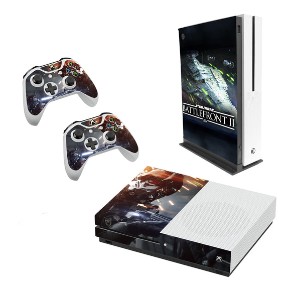 Star Wars Battlefront 2 -Decal Style Skin Set fits XBOX One S Console and 2 Controllers