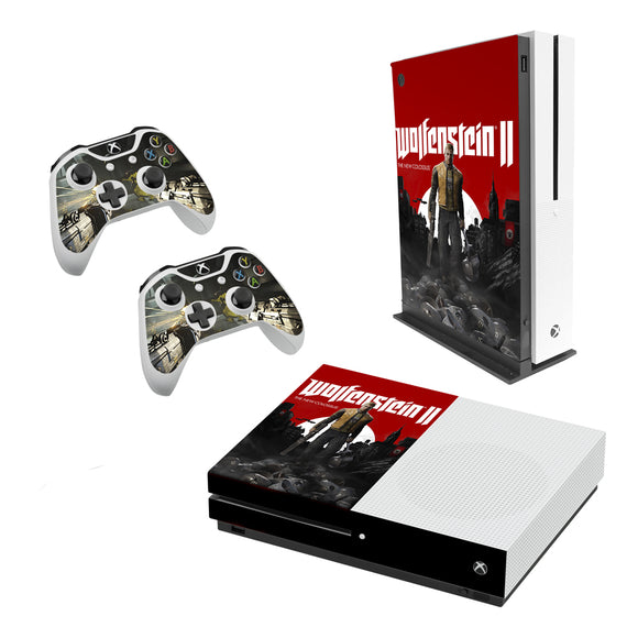 Wolfenstein 2 -Decal Style Skin Set fits XBOX One S Console and 2 Controllers