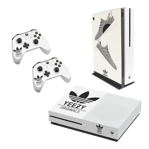 Adidas Yeezy -Decal Style Skin Set fits XBOX One S Console and 2 Controllers