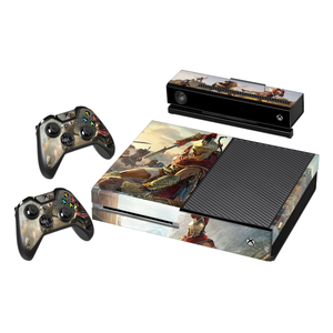 Assassin's Creed Odyssey - Vinyl Decal Protective Skin Cover Sticker for Xbox One Console and 2 Controllers