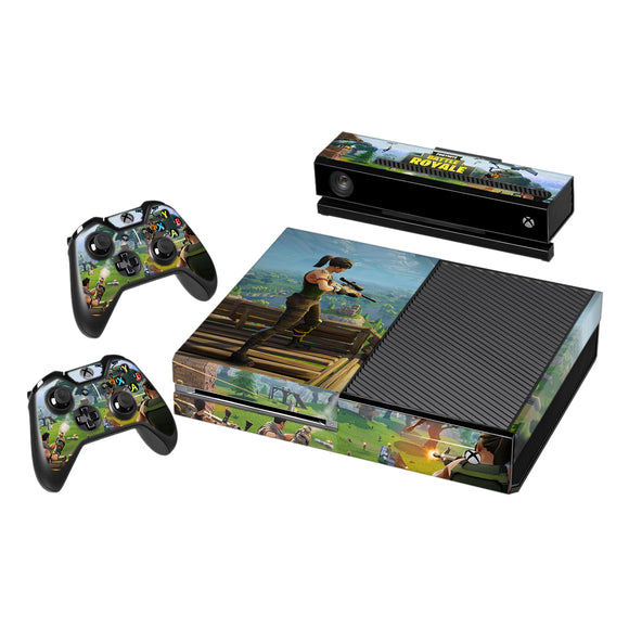 Fortnite Vinyl Decal Protective Skin Cover Sticker for Xbox One Console and 2 Controllers 001