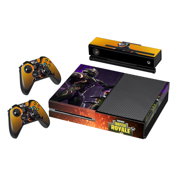 Fortnite Vinyl Decal Protective Skin Cover Sticker for Xbox One Console and 2 Controllers 004