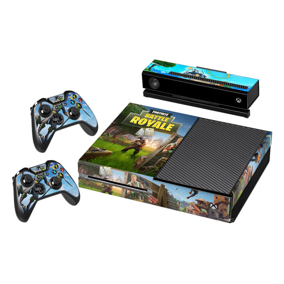 Fortnite Vinyl Decal Protective Skin Cover Sticker for Xbox One Console and 2 Controllers 008