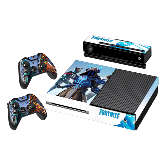 Fortnite Season 7 Vinyl Decal Protective Skin Cover Sticker for Xbox One Console and 2 Controllers