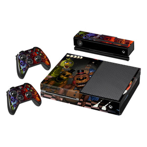 Vinyl Decal Protective Skin Cover Sticker for Xbox One Console and 2 Controllers -Five Nights At Freddys