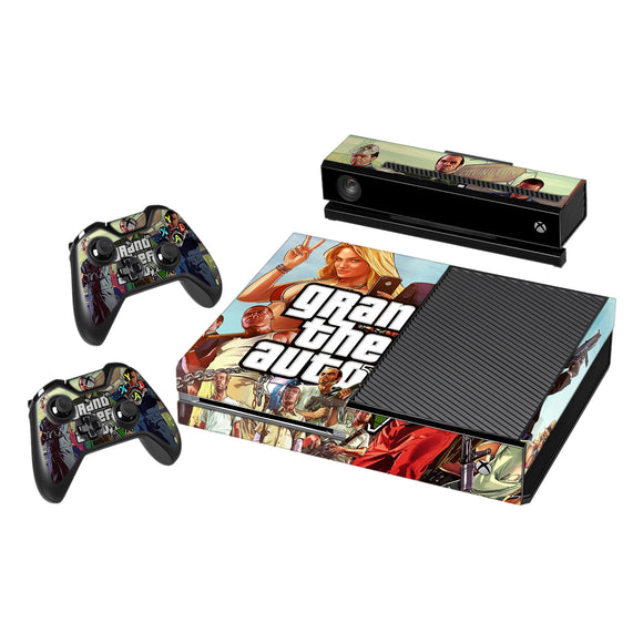 Vinyl Decal Protective Skin Cover Sticker for Xbox One Console and 2 Controllers -GTA 5