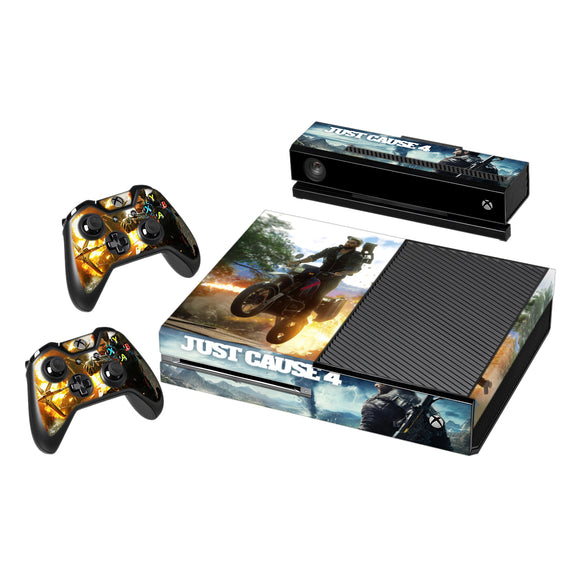 Just Cause 4 Vinyl Decal Protective Skin Cover Sticker for Xbox One Console and 2 Controllers