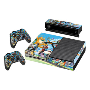 Vinyl Decal Protective Skin Cover Sticker for Xbox One Console and 2 Controllers -Pokemon