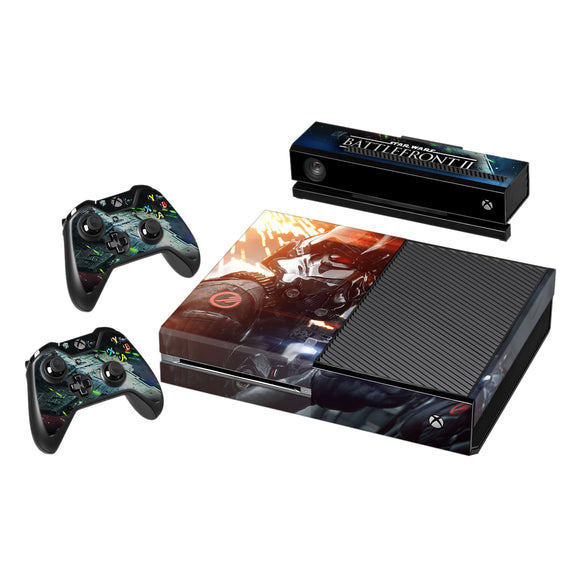 Vinyl Decal Protective Skin Cover Sticker for Xbox One Console and 2 Controllers -Star Wars