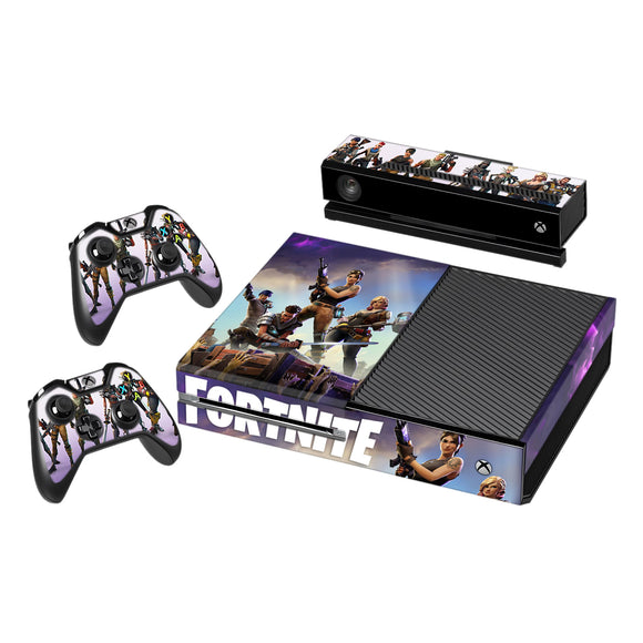 Fortnite Vinyl Decal Protective Skin Cover Sticker for Xbox One Console and 2 Controllers