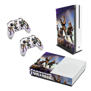 Fortnite -Decal Style Skin Set fits XBOX One S Console and 2 Controllers