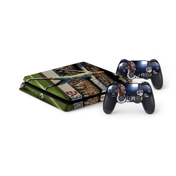 Fifa 18 -Protective Vinyl Skin Decal Cover for PlayStation 4 Slim Console & 2 Controllers