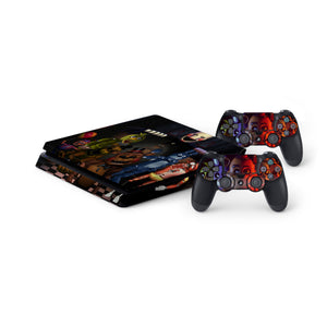Five Nights At Freddys -Protective Vinyl Skin Decal Cover for PlayStation 4 Slim Console & 2 Controllers