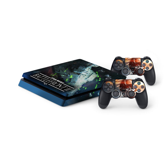 Star Wars -Protective Vinyl Skin Decal Cover for PlayStation 4 Slim Console & 2 Controllers