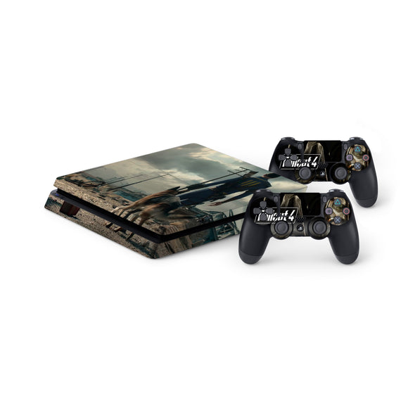 Fallout 4 -Protective Vinyl Skin Decal Cover for PlayStation 4 Slim Console & 2 Controllers