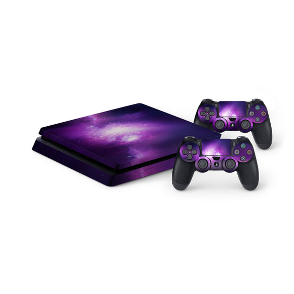 Nebula Galaxy -Protective Vinyl Skin Decal Cover for PlayStation 4 Slim Console & 2 Controllers