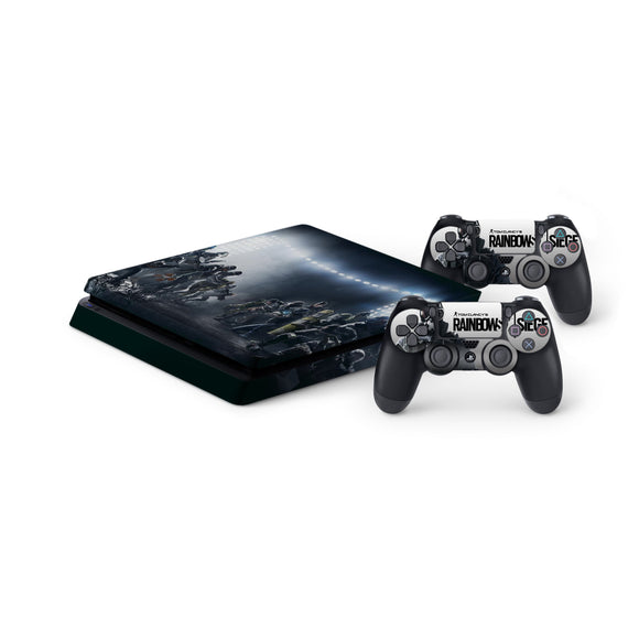 Rainbow Six Siege -Protective Vinyl Skin Decal Cover for PlayStation 4 Slim Console & 2 Controllers