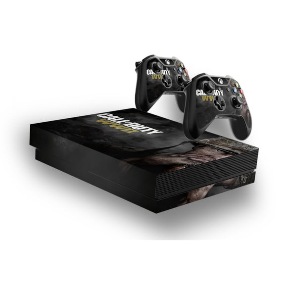 Call Of Duty WW2 -Protective Vinyl Skin Decal Cover for Xbox One X Console & 2 Controllers