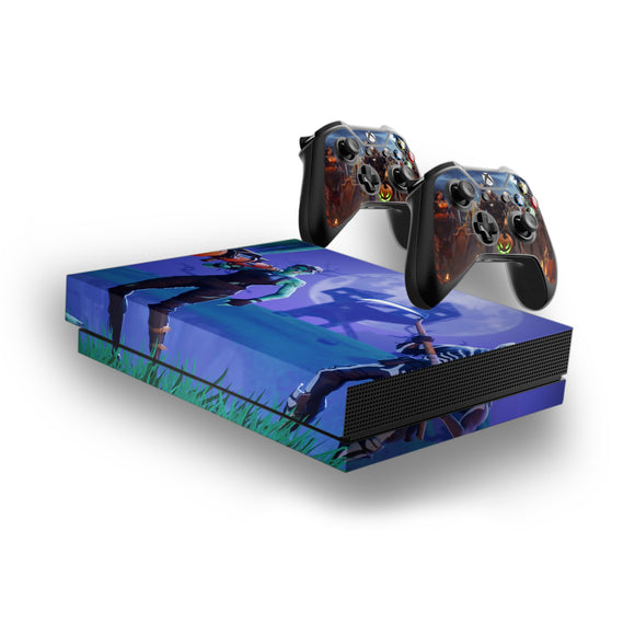 Fortnite -Decal Style Skin Set fits XBOX One X Console and 2 Controllers 005