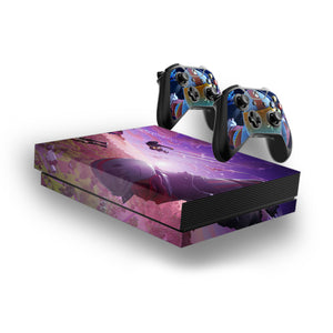 Fortnite -Decal Style Skin Set fits XBOX One X Console and 2 Controllers 007