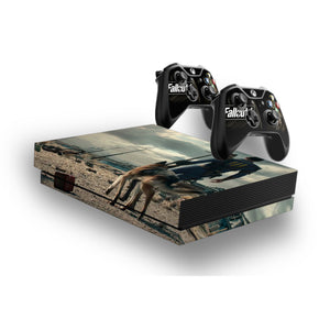 Fallout 4 -Protective Vinyl Skin Decal Cover for Xbox One X Console & 2 Controllers