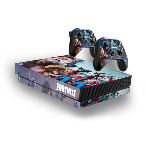 Fortnite -Decal Style Skin Set fits XBOX One X Console and 2 Controllers Sgt Winter