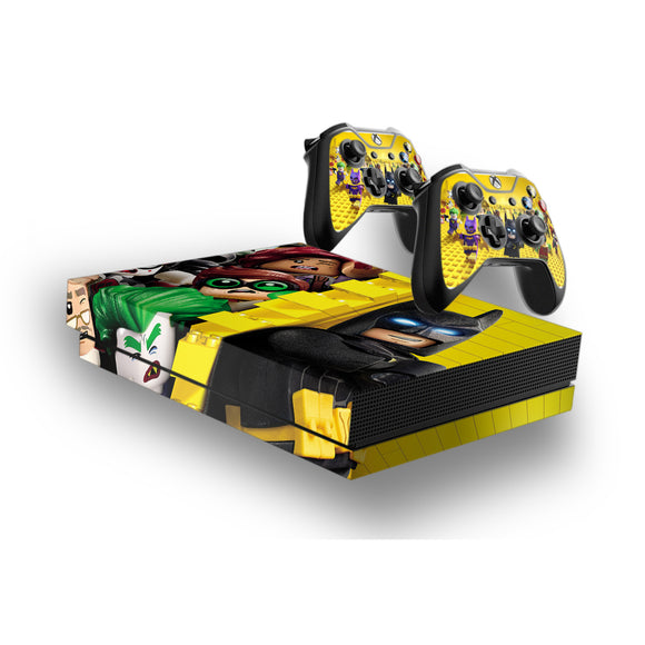 Lego Batman -Protective Vinyl Skin Decal Cover for Xbox One X Console & 2 Controllers
