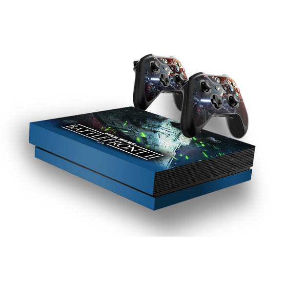 Star Wars Battlefront 2 -Protective Vinyl Skin Decal Cover for Xbox One X Console & 2 Controllers