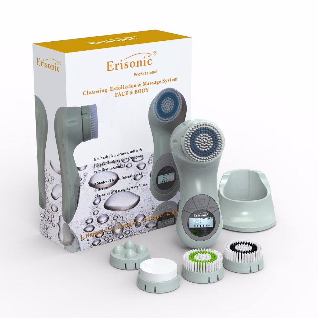 GREEN ERISONIC FACIAL CLEANSING AND MASSAGE SYSTEM