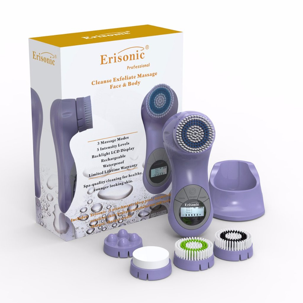 LAVENDER ERISONIC FACIAL CLEANSING AND MASSAGE SYSTEM