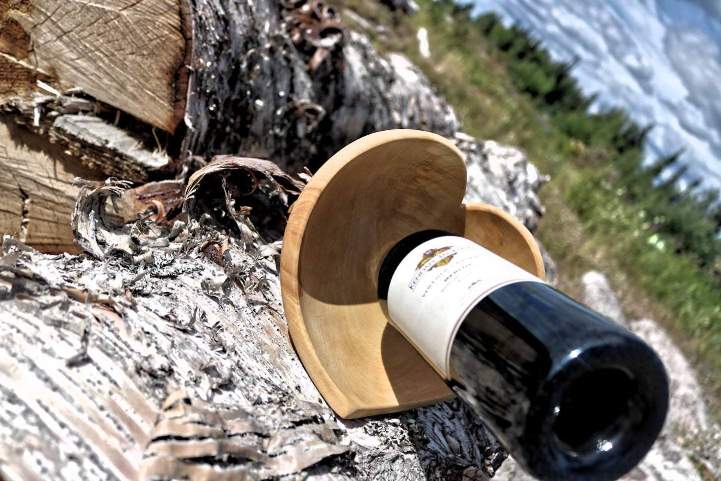 Hand-made Wine Bottle Holder - Heart
