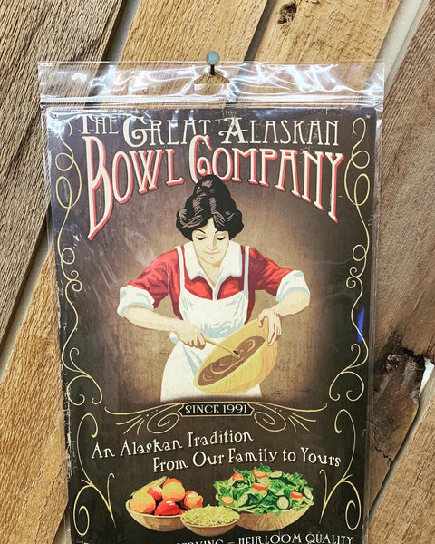 The Great Alaskan Bowl Company Vintage Wooden Signs