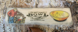 The Great Alaskan Bowl Company Wooden Bookmark