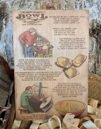 The Great Alaskan Bowl Company Vintage Wooden Postcard