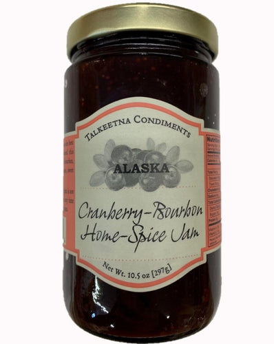 Talkeetna Condiments Cranberry-Bourbon Home-Spice Jam