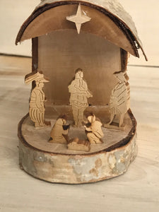 Wood Nativity Hollow