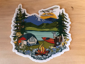 Camping Sticker