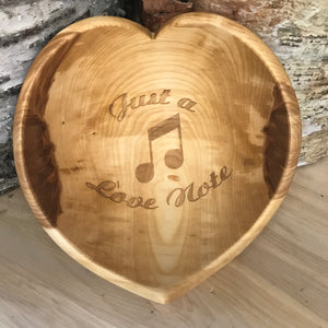 Just a love note - Heart Bowl