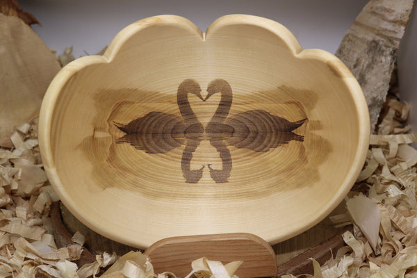 Double Heart Double Swan Bowl