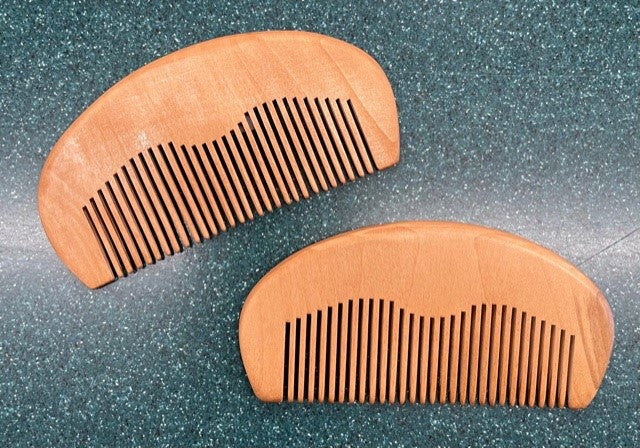 Wood Beard and Moustache Comb