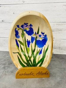 Purple Iris Art Bowl