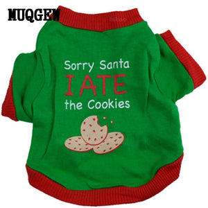 Sorry Santa I Ate The Cookies Dog Shirt